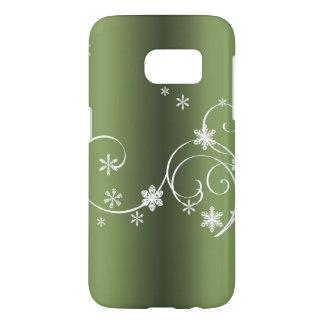 Metallic Green Christmas Samsung Galaxy S7 Case