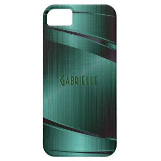 Metallic Green Design Brushed Aluminum Look Case For The iPhone 5