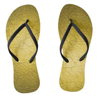 Metallic Green Flip Flops