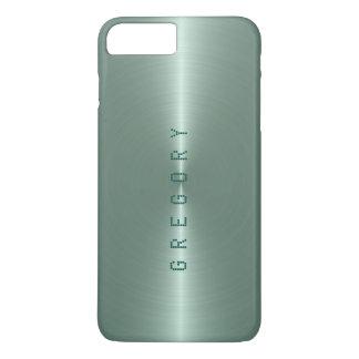 Metallic Green Tint Stainless Steel Look iPhone 7 Plus Case