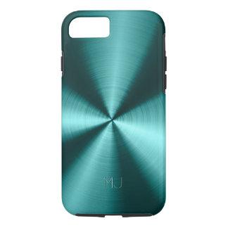 Metallic Green Tones Stainless Steel Look iPhone 7 Case