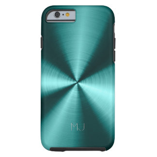 Metallic Green Tones Stainless Steel Look Tough iPhone 6 Case