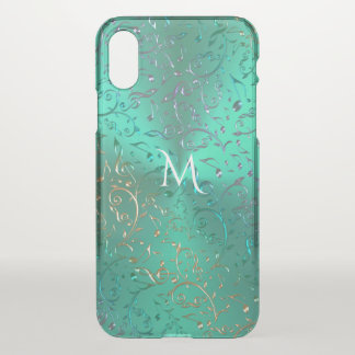 Metallic Green with Sparkling Music Notes iPhone X Case