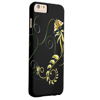 Metallic green yellow floral barely there iPhone 6 plus case
