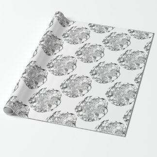 Metallic Lace Flower Wrapping Paper