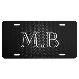 Metallic License Plate