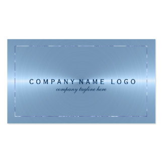 Metallic Light Blue Stainless Steel Look Pack Of Standard Business Cards