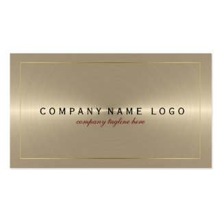 Metallic Light Gold Stainless Steel Look Pack Of Standard Business Cards