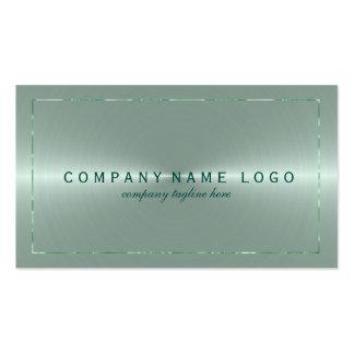 Metallic Light Green Stainless Steel Look Pack Of Standard Business Cards