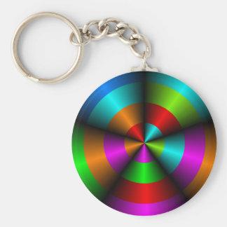 Metallic Look Abstract Keychain