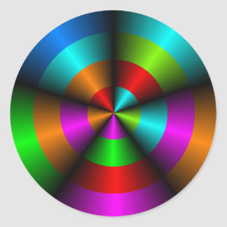 Metallic Look Optical Illusion Sticker