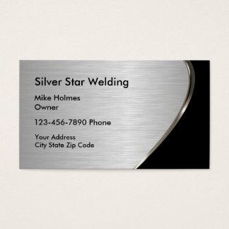 Metallic Look Welding Business Cards