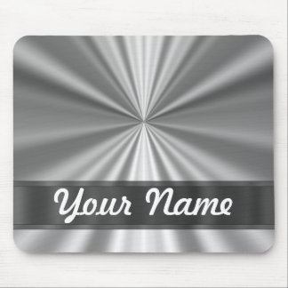 Metallic looking silver mouse pad