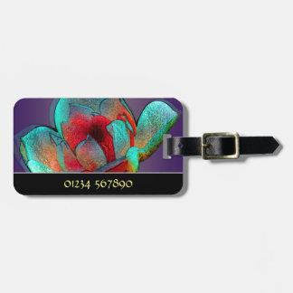 Metallic magnolia personalised bag tag