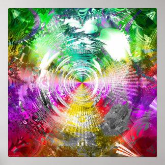 Metallic Mandelbrot 3c Poster