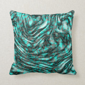 Metallic marble throw pillow