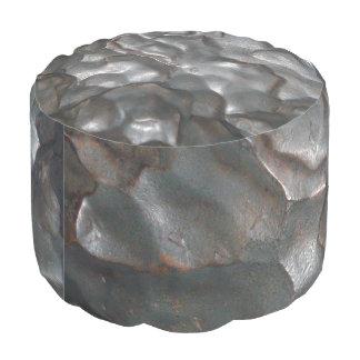 Metallic Meteorite Rock Print, Pouf