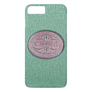 Metallic Mint Green and Pink Buckle iPhone 7 Plus Case