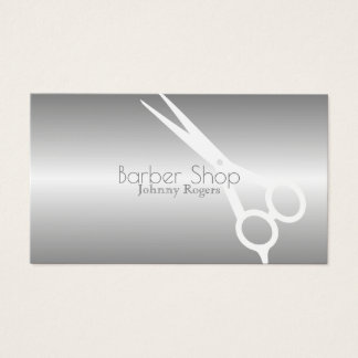 Metallic modern gray cover business card