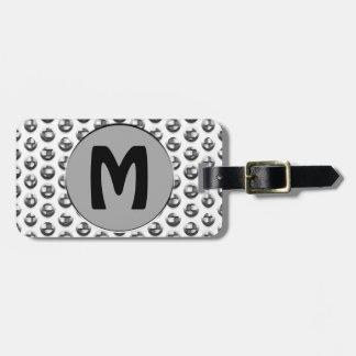 Metallic Monogram Luggage Tag