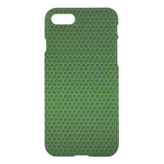 Metallic Neon Green Graphite Honeycomb Carbon Fibe iPhone 7 Case