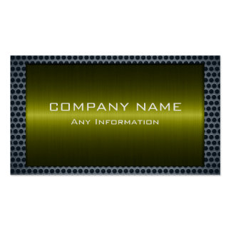 Metallic Olive Stainless Gray Steel Hole Look Pack Of Standard Business Cards