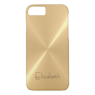 Metallic Pale Gold Stainless Steel Metal Look iPhone 7 Case