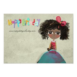 Metallic Paper Invitation Happy Birthday