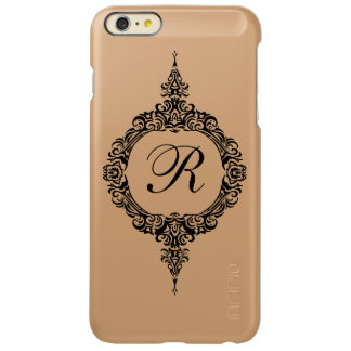 Metallic Personalized Initial Vintage iPhone6 case