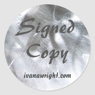 Metallic Photo and Gray Signed Copy Round Sticker