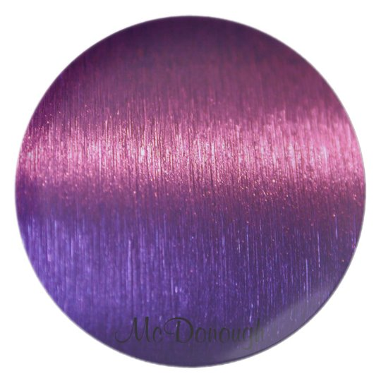 Metallic Pink and Purple Fibres Pattern Plate