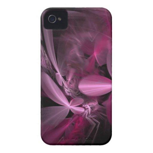 Metallic Pink Flower Petals iPhone 4 Cover