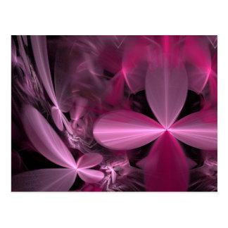 Metallic Pink flower Petals Postcard