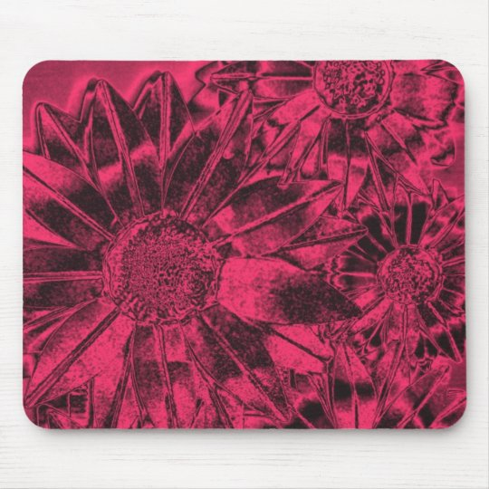 Metallic Pink Sunflowers Mousepad