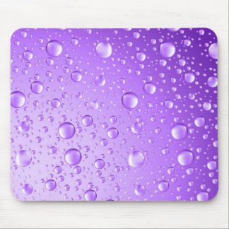 Metallic Purple Abstract Rain Drops Mouse Pad