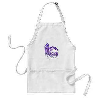 Metallic Purple Hammered Metal Dragon Standard Apron