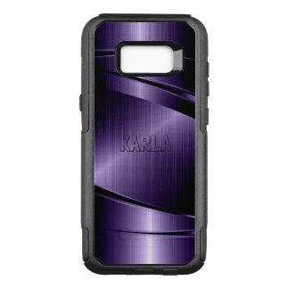 Metallic Purple Modern Geometric Design OtterBox Commuter Samsung Galaxy S8+ Case