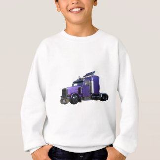 Metallic Purple Semi Tractor Trailer Truck Sweatshirt