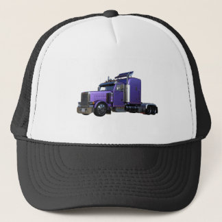 Metallic Purple Semi Tractor Trailer Truck Trucker Hat