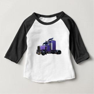 Metallic Purple Semi Truck In Three Quarter View Baby T-Shirt