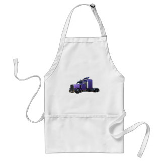Metallic Purple Semi Truck In Three Quarter View Standard Apron