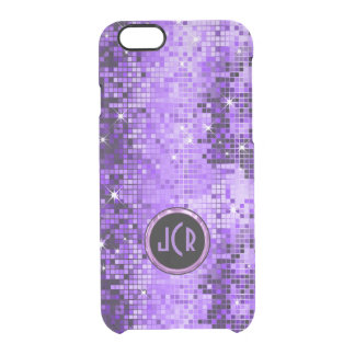 Metallic Purple Sequence Look Disco Mirrors Clear iPhone 6/6S Case