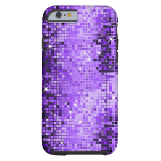 Metallic Purple Sequins Look DiscoMirrors Bling Tough iPhone 6 Case