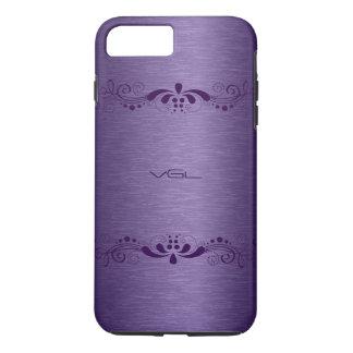 Metallic Purple texture & Deep Purple Lace iPhone 7 Plus Case