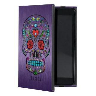 Metallic Purple With Colorful Sugar Skull iPad Mini Case