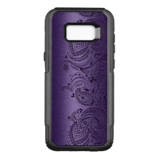 Metallic Purple With Purple Paisley Lace OtterBox Commuter Samsung Galaxy S8+ Case