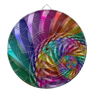 Metallic Rainbow Dart Board