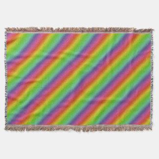 metallic rainbow glitter texture throw blanket