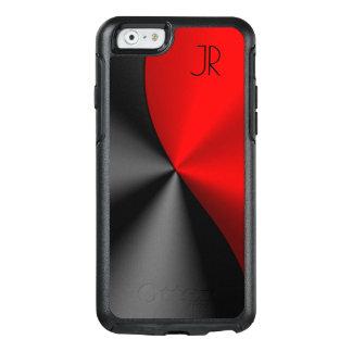 Metallic Red & Black Geometric Design OtterBox iPhone 6/6s Case