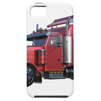 Metallic Red Semi TruckIn Three Quarter View iPhone 5 Cover